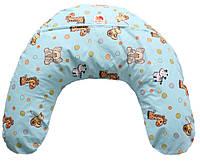 Подушка для кормления младенцев ТМ Лежебока Холлофайбер Африка на голубом