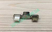 Магнитный переходник на кабель MicroUSB (Type-C, Lightning Iphone) универсальный для зарядки и передачи данных