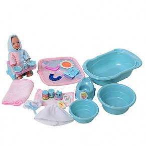 Пупс DEFA 8394, 7см, ванна, стульчик для кормл.,аксессуары,2цв, в кор-ке,21-16-10см, фото 2