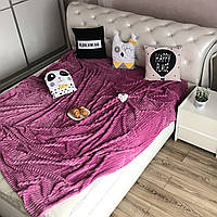 Плед на диван  Микрофибра  200*230 см грязно-розовый