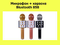 Микрофон + караоке Bluetooth 858, фото 1