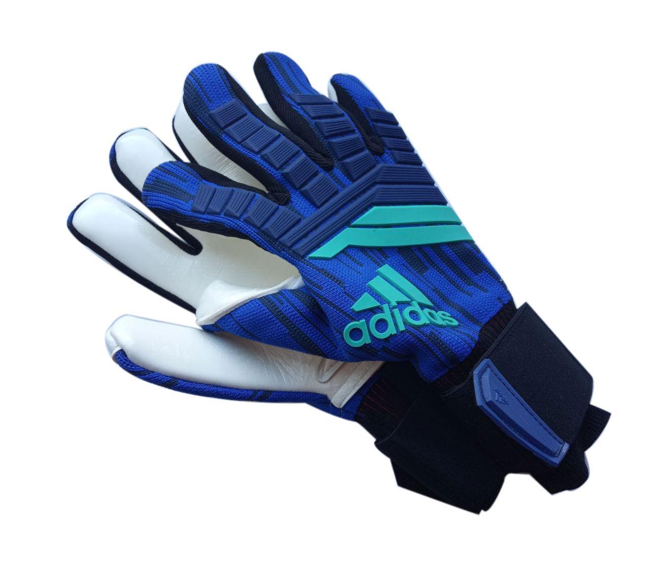 Вратарские перчатки Adidas pro 120 сине-белые