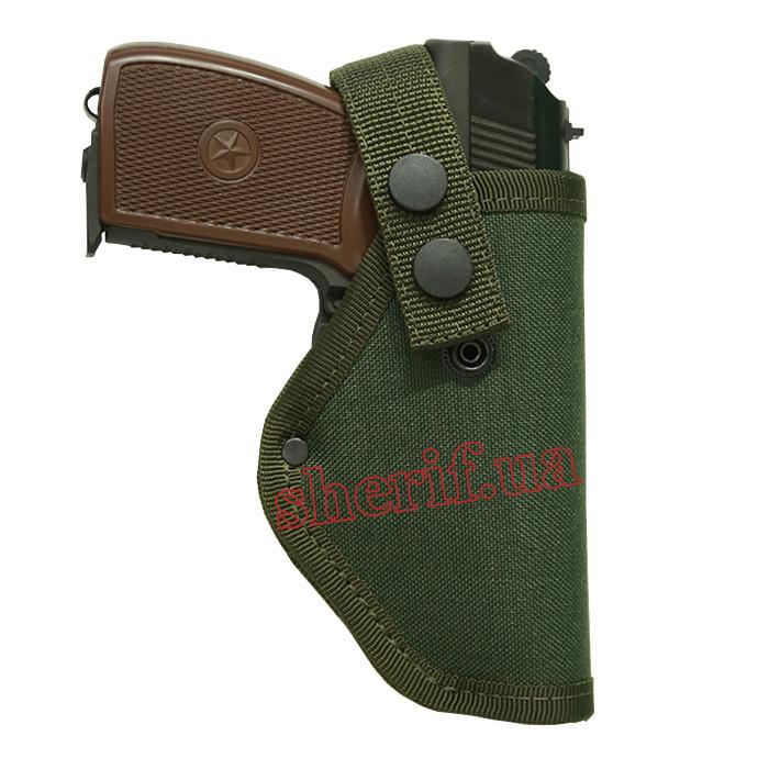 Кобура на пистолет ПМ Макарова поясная (cordura 1000d, олива) 12313