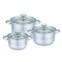 Набор посуды из нержавеющей стали UNIQUE UN-5031 (6 предметов)