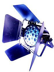 Световой прибор Led par 18x18 RGBWAUV 6in1 dmx с кашетирующими шторками