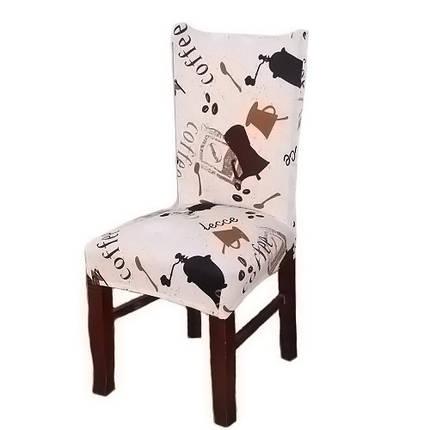 Чехол на стул натяжной Stenson R26293 45х40~65х50 см, фото 2