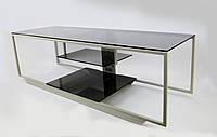 Стильная ТВ-тумба из стекла Commus Премиум 1250 gray485 gray (1250х400х390), фото 1