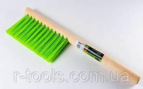 Щетка-сметка трехрядная 280 мм деревянная ручка Сибртех 84628