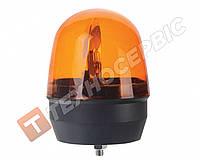 Маячок проблесковый оранжевый со стробоскопом 12в ( стационарное крепление центральный болт) Турция