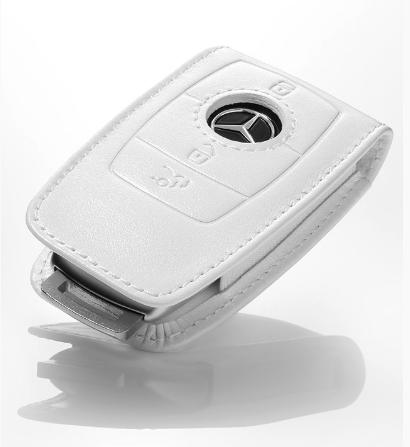 Шкіряний футляр для ключів Mercedes-Benz Key Sleeve, Gen. 6, Leather, White (B66958413)