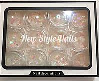 Набор декора для ногтей,лунные конфети