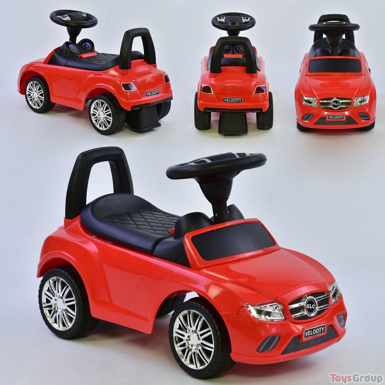 Машина-Толокар R - 0001 JOY (6) цвет КРАСНЫЙ, музыкальный руль, 2 песни, РУССКОЕ ОЗВУЧИВАНИЕ, багажник