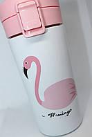 Термо кружка Фламинго