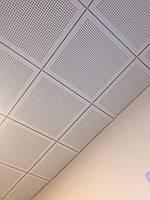 Акустическая потолочная панель Danoline Linear, круглые отверстия 6/15, сист. Т24, 592мм*592мм*12,5мм.