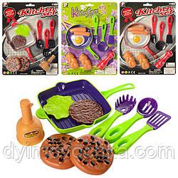Игровой набор посуда с продуктами P3014-P2814,2 вида (2 цвета)