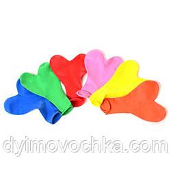 Кульки надувні MET10058 серце, 100шт(мікс кольорів) в кульку, 18-21-2см