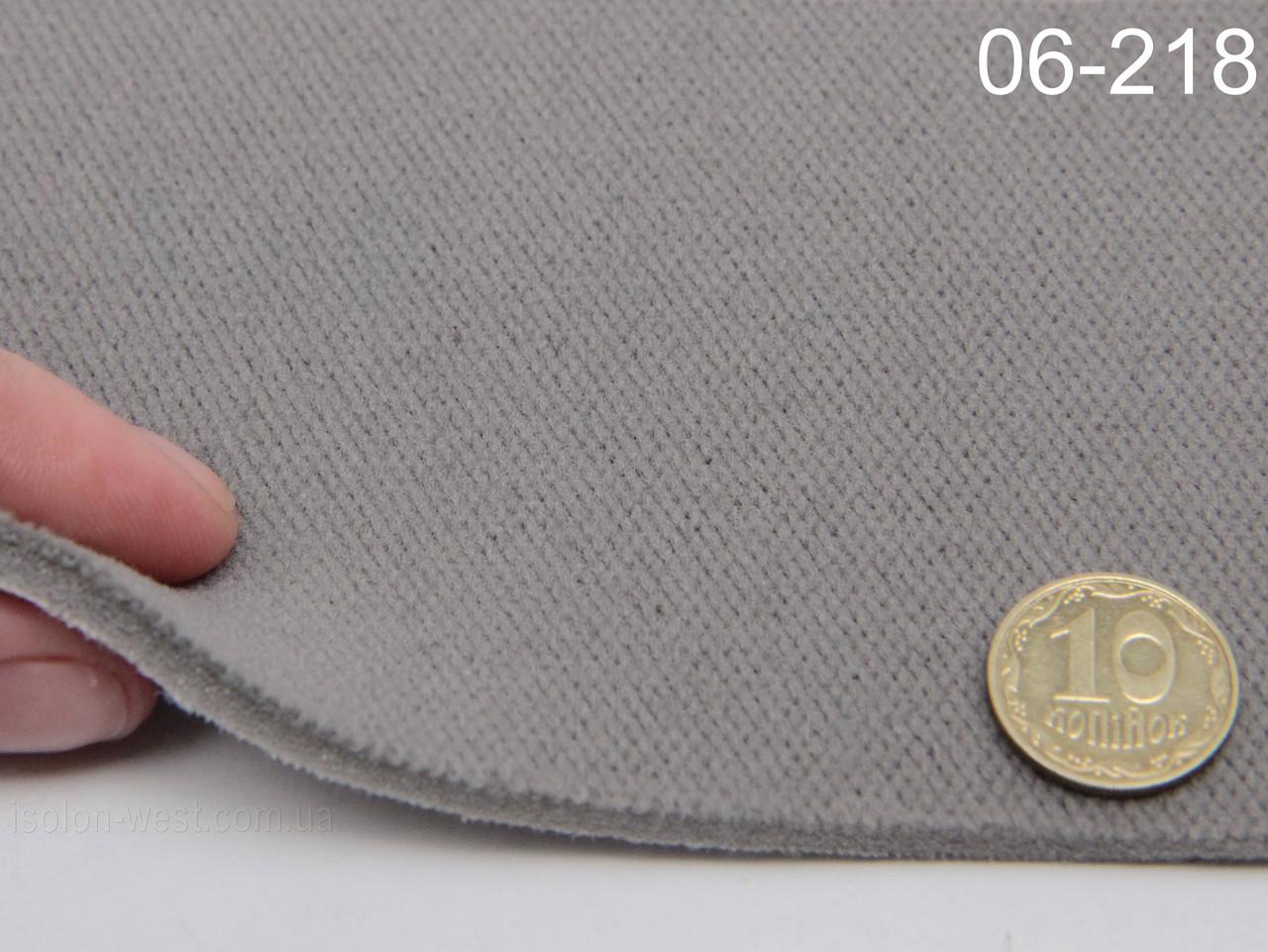Ткань оригинальная потолочная, серая 06-218 на поролоне и сетке шир. 1.50м