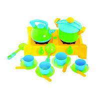 Игровая плита с посудой 17 предметов Kinderway 04-414