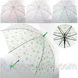 Зонтик детский MK 0523, длина 54см, трость 72см, диам.91см,спица52,5клеенка,рисунок, 4 цвета