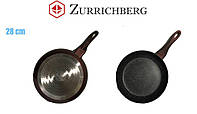 Сковорода для блинов пиццы с мраморным покрытием Zurrichberg ZBP-7101 блинница антипригарная