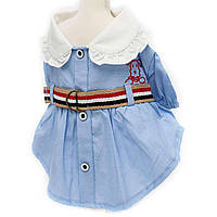 """Платье для собак Lovable Dog """"Student uniform baby"""" голубой (2)"""