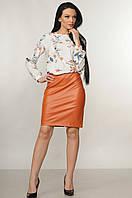 Яркая облегающая юбка эко–кожа Dakota (42–52р) в расцветках, фото 1