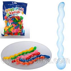 Шарики надувные MK 2212, спиральный, 22см, 50шт(микс цветов) в кульке,19-29-2см