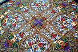Счастливица 1122-15, павлопосадский платок (шаль) из уплотненной шерсти с шелковой вязанной бахромой, фото 7