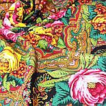 Счастливица 1122-18, павлопосадский платок (шаль) из уплотненной шерсти с шелковой вязанной бахромой, фото 7