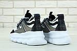 Женские кроссовки Versace Chain Reaction Sneakers (бело-черные) , фото 3