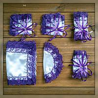 Набор для венчания в церкви фиолетового цвета