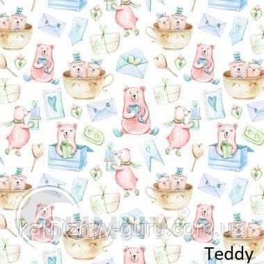 Рулонные шторы для окон в открытой системе Sunny, ткань Teddy