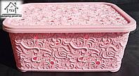Корзинка для хранения вещей 6 л К101 (розовая)