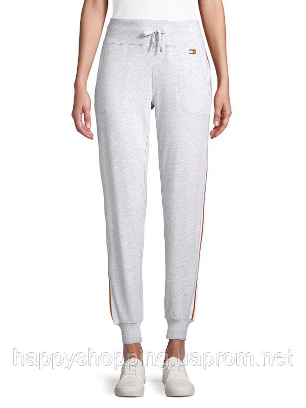 Женские серые спортивные штаны популярного бренда Tommy Hilfiger