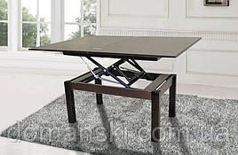 Стол трансформер, складной обеденный и журнальный столик в одном. Стол для гостей. Цвет венге.