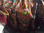 Миндаль 1369-6, павлопосадский платок (шаль) из уплотненной шерсти с шелковой вязанной бахромой, фото 5
