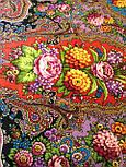Миндаль 1369-6, павлопосадский платок (шаль) из уплотненной шерсти с шелковой вязанной бахромой, фото 8
