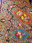 Миндаль 1369-6, павлопосадский платок (шаль) из уплотненной шерсти с шелковой вязанной бахромой, фото 9