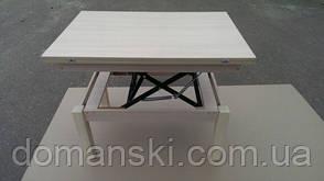 Стол трансформер, складной обеденный и журнальный столик в одном. Стол для гостей. Цвет дуб молочный., фото 2