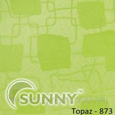 Рулонные шторы для окон в открытой системе Sunny, ткань Topaz