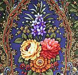 Миндаль 1369-19, павлопосадский платок (шаль) из уплотненной шерсти с шелковой вязанной бахромой, фото 5