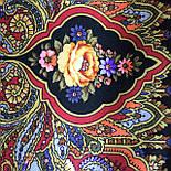 Миндаль 1369-19, павлопосадский платок (шаль) из уплотненной шерсти с шелковой вязанной бахромой, фото 7