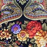 Миндаль 1369-19, павлопосадский платок (шаль) из уплотненной шерсти с шелковой вязанной бахромой, фото 8