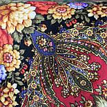 Миндаль 1369-19, павлопосадский платок (шаль) из уплотненной шерсти с шелковой вязанной бахромой, фото 9