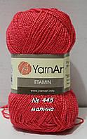 Нитки пряжа для вязания Etamine Этамин от YarnArt Ярнарт № 445 - малина