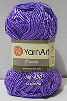 Нитки пряжа для вязания Etamine Этамин от YarnArt Ярнарт № 430 - сирень