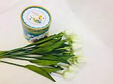 Цветок искусственный, Тюльпан белый, H 60см, Искусственные цветы, Днепр, фото 2