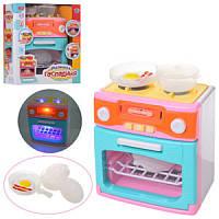 Игрушечная бытовая техника XS-18067-1 плита, духовка, посуда, звук, свет, на батарейке
