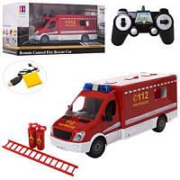 Пожарная машинка на радиоуправлении со звуком и светом E671-003, 33x13x11 см