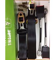 Ремни безопасности трехточечные  Automs неинерционные Турция 2 штуки с болтами